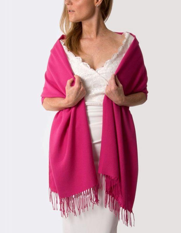 Super Soft Italian Pashmina - Hot Pink Fuchsia, Accessories