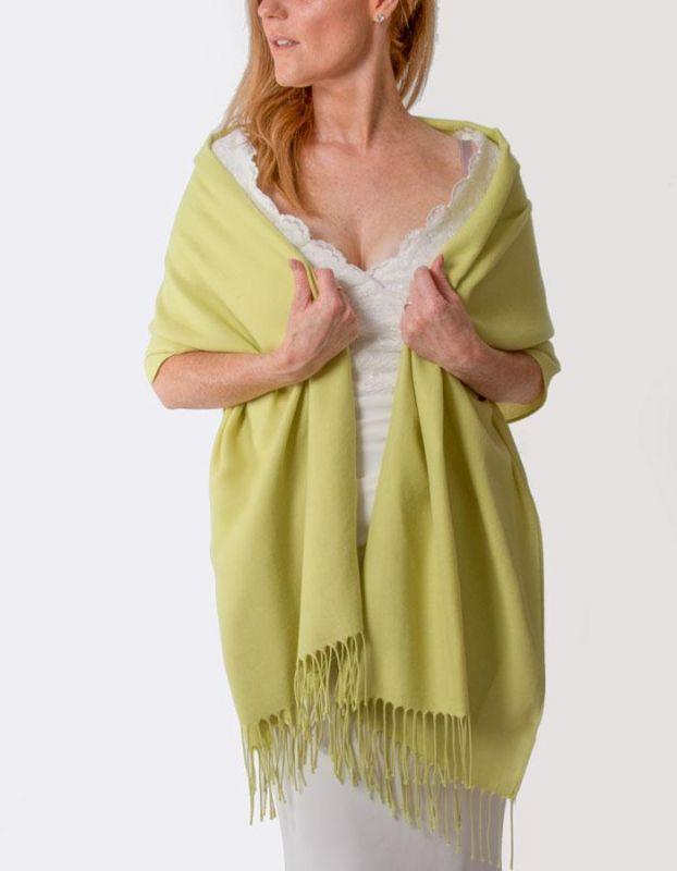 Super Soft Italian Pashmina - Lime Green, Accessories