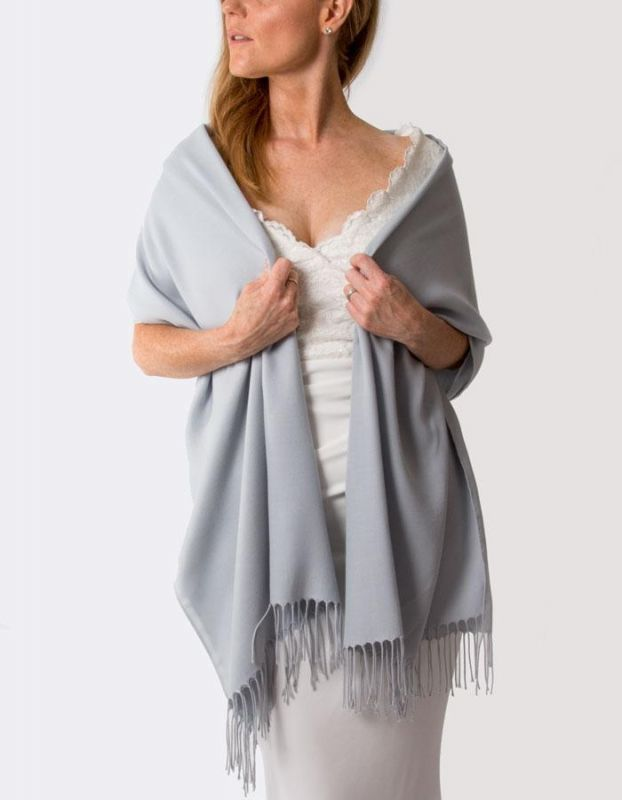 Super Soft Italian Pale Grey / Silver Pashmina, Accessories