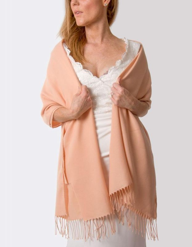 Super Soft Italian Pashmina - Peach Pink, Accessories