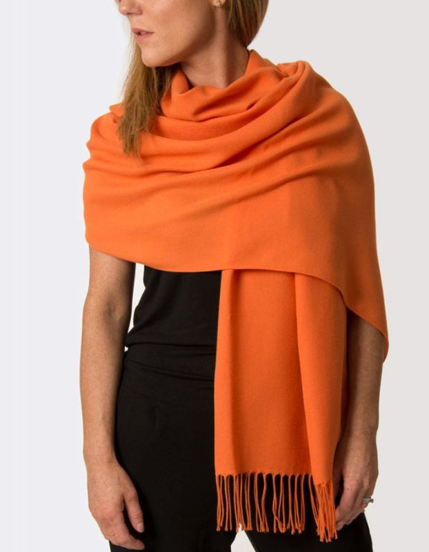Super Soft Classic Italian Orange Pashmina, Accessories