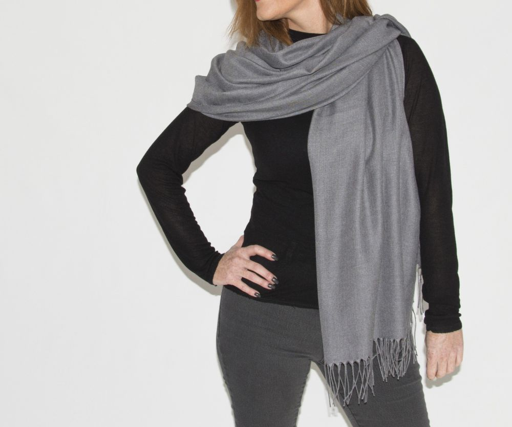 Super Soft Classic Italian Dark Grey Pashmina, Accessories