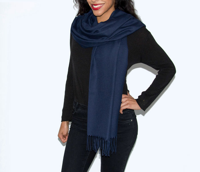 Super Soft Classic Italian Navy Pashmina, Accessories