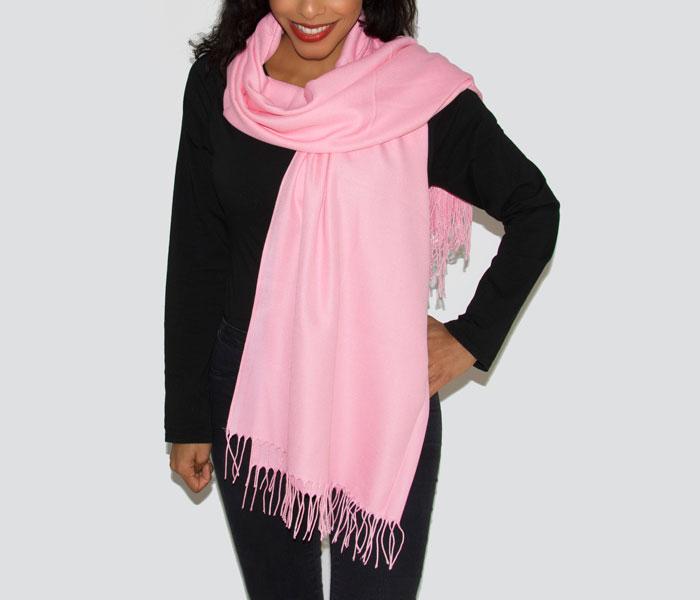Super Soft Classic Italian Pink Lady Pashmina, Accessories