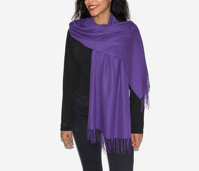 Super Soft Classic Italian Purple Pashmina, Accessories