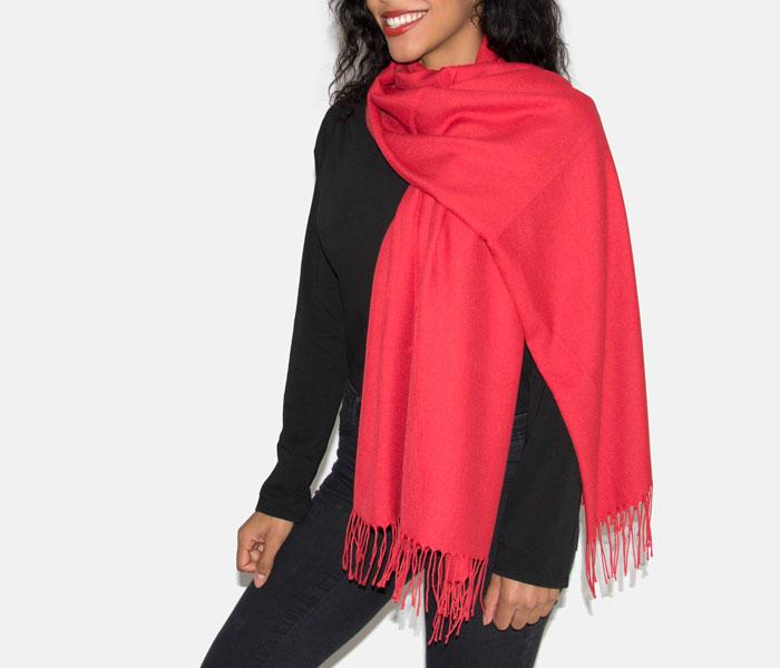 Super Soft Classic Italian Red Pashmina, Accessories