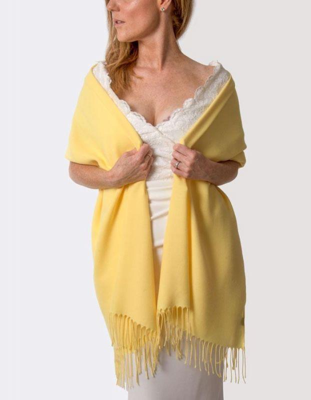 Super Soft Italian Pashmina - Yellow, Accessories