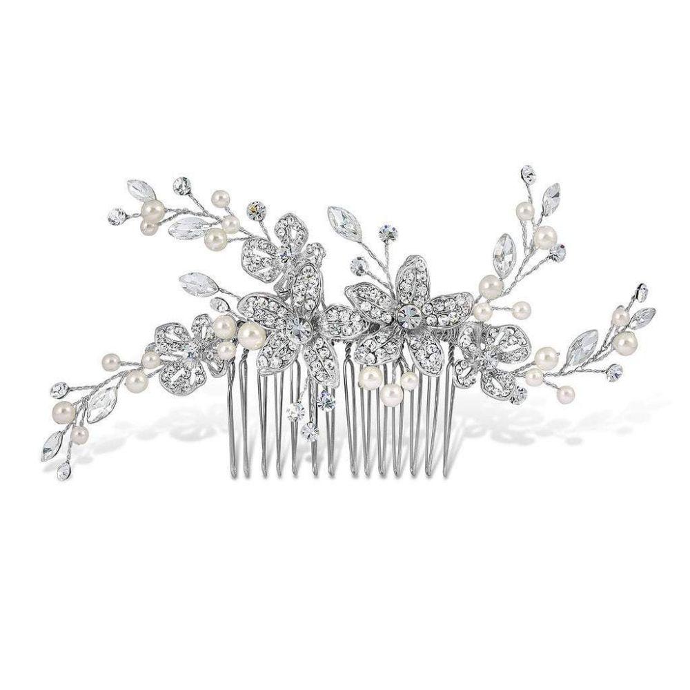 Adele Pearl & Diamante Bridal Comb, Bridal Hair Accessories