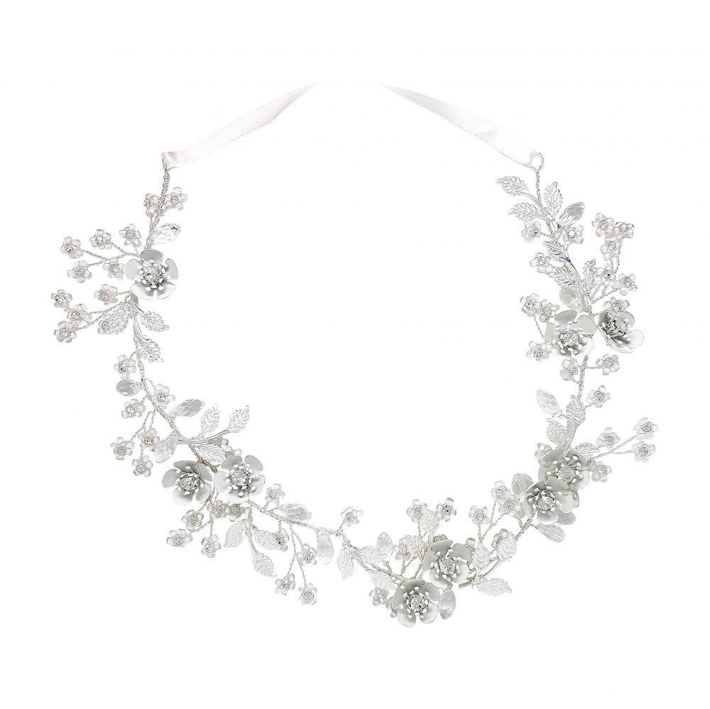 Silver Leaf & Crystal Bridal Hair Vine - Baccara, Bridal Hair Accessories