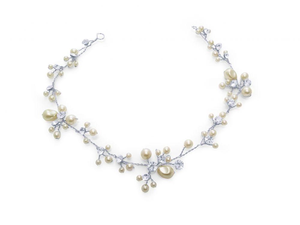 Betsy Pearl & Diamante Bridal Hair Vine, Bridal Hair Accessories