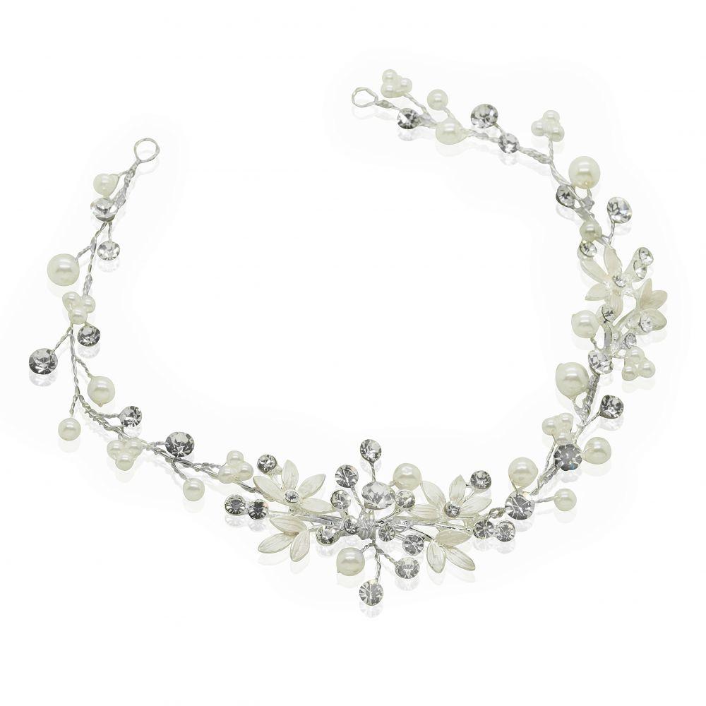 Liv Diamante & Pearl Bridal Hair Vine, Bridal Hair Accessories