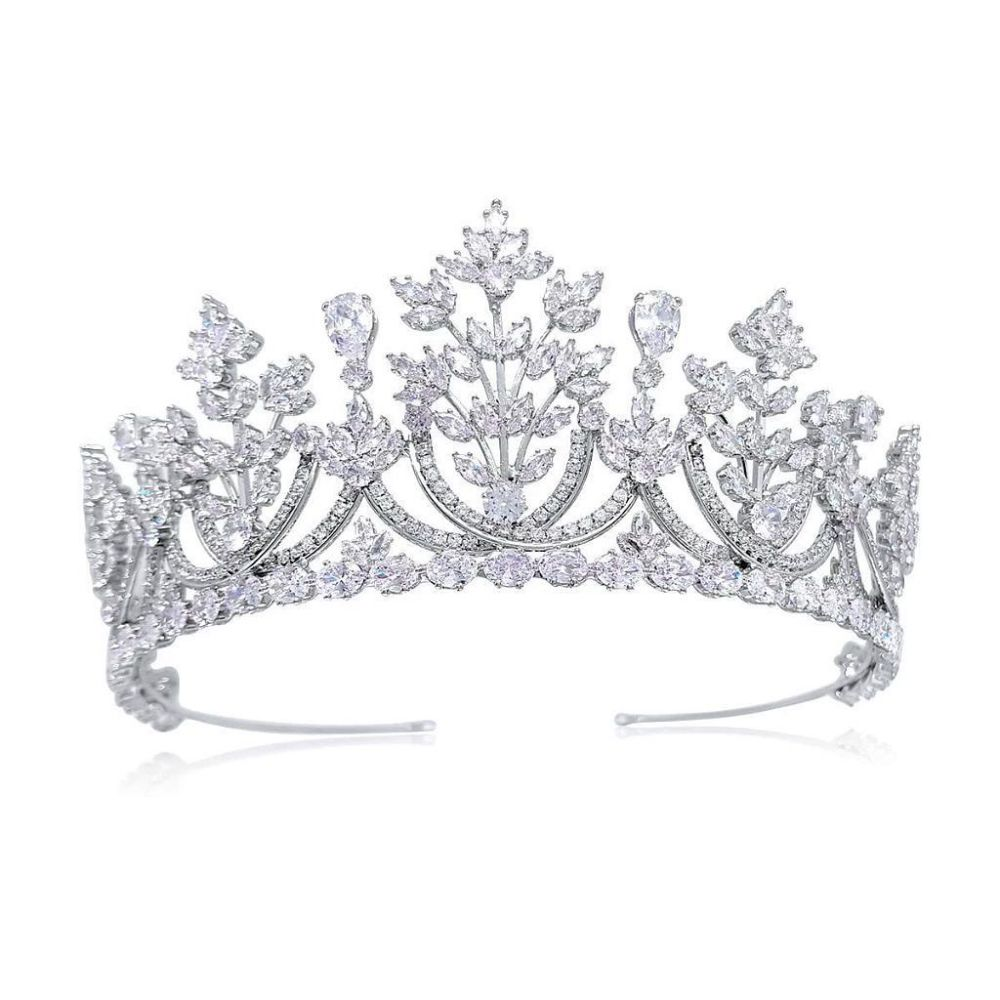 Diana Luxury Platinum Plated Tiara, Tiaras