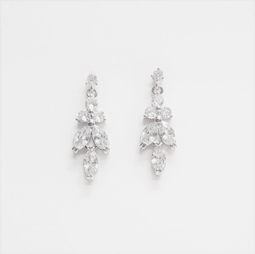 Amalia Simulated Diamond Earrings, Jewellery
