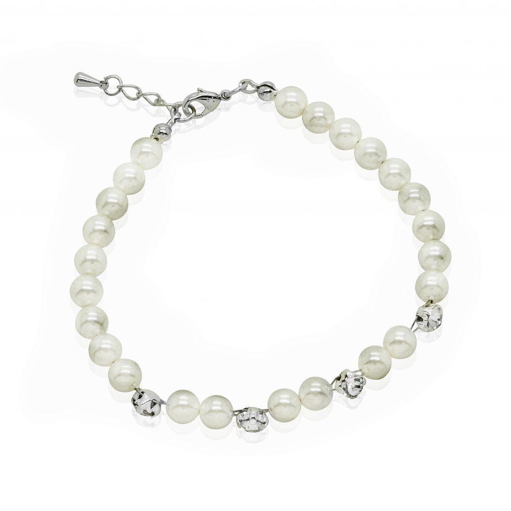 Freshwater Pearl & Diamante Bridal Bracelet - Betsy, Jewellery