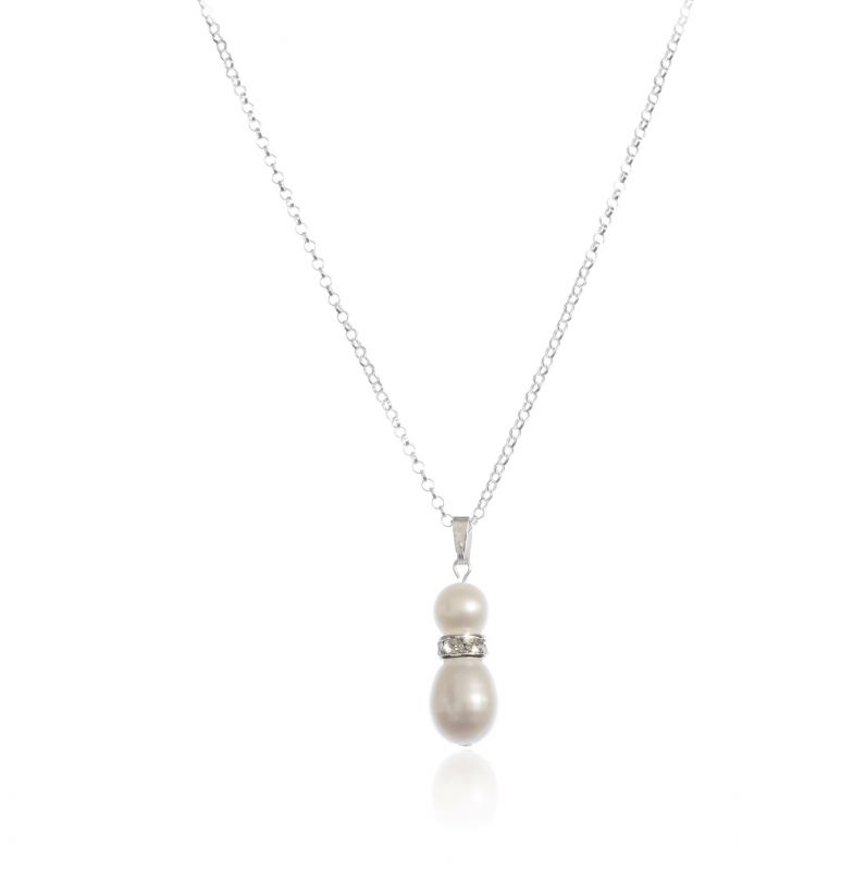 Grace Freshwater Pearl & Diamante Necklace, Jewellery