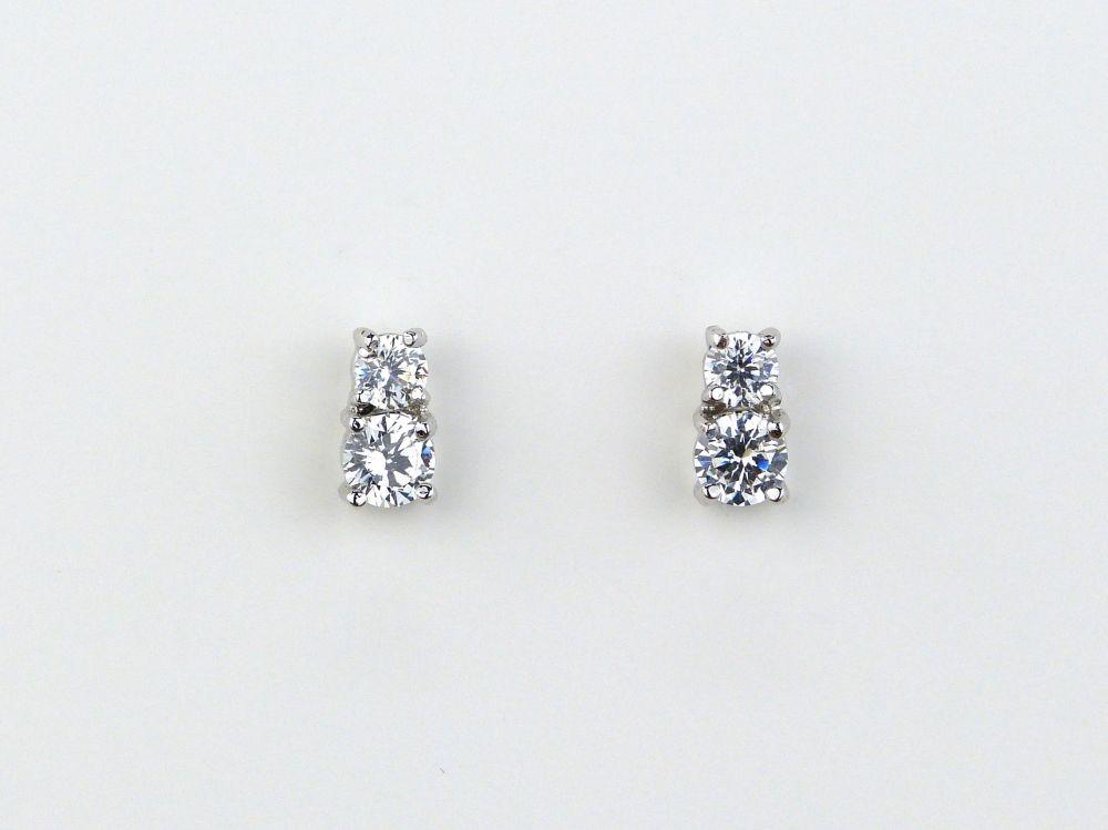 Milan Simulated Diamond Stud Earrings, Jewellery