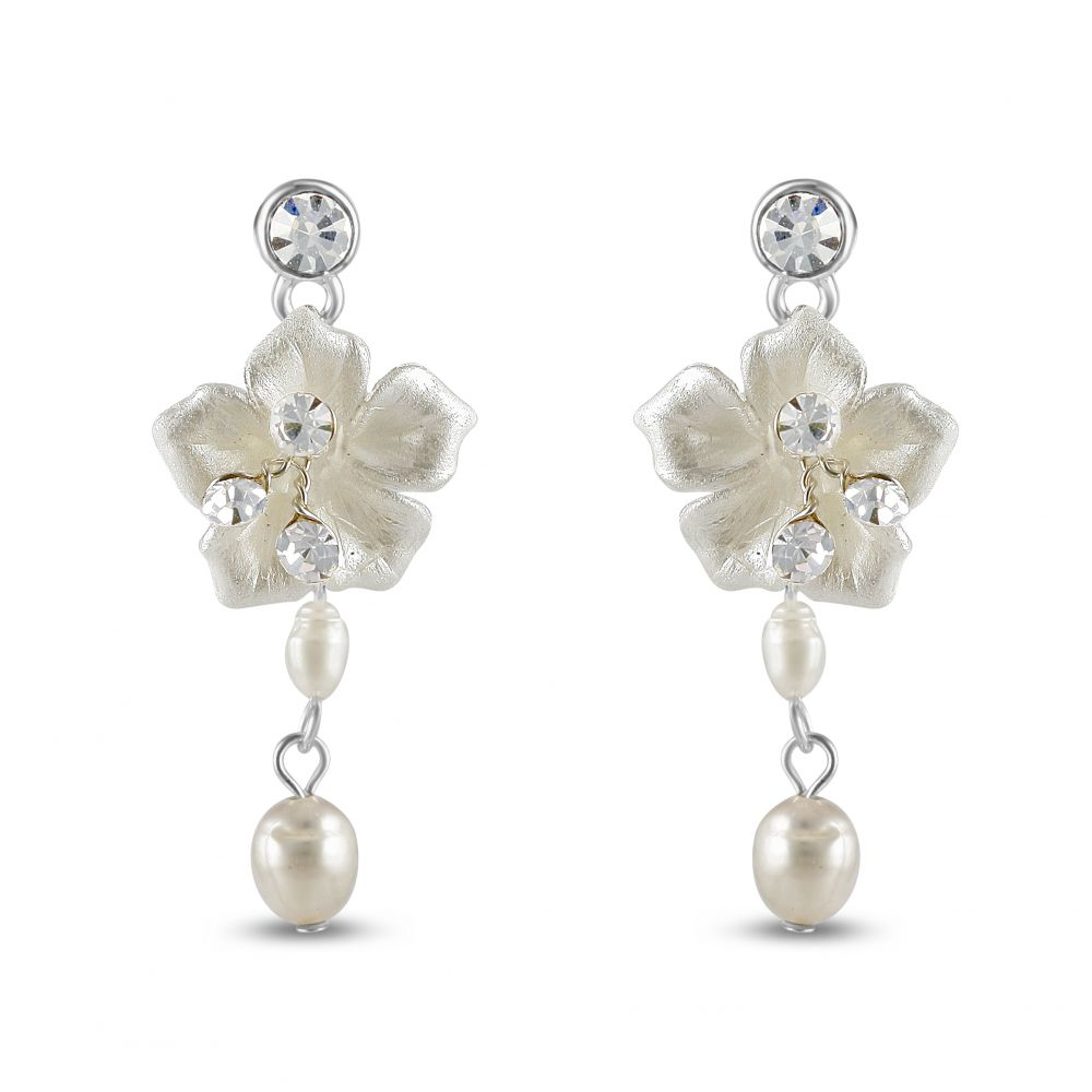 Petal Freshwater Pearl Earrings, Jewellery