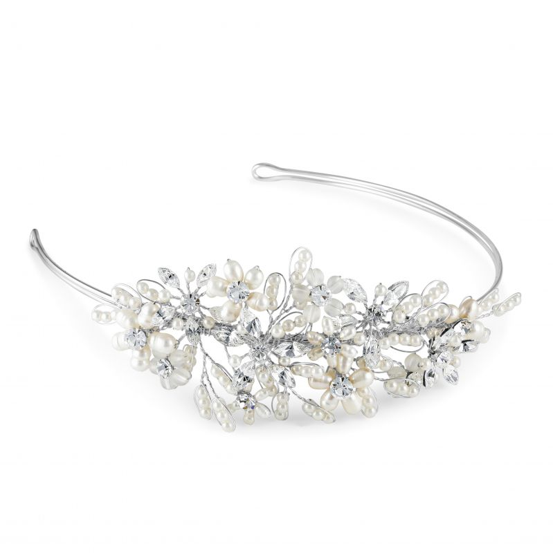 Pearl & Diamante Juliette Wedding Side Tiara, Tiaras