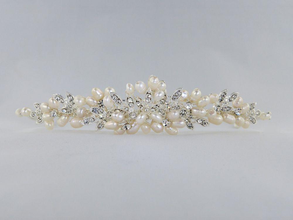 Paris Pearl & Diamante Tiara, Tiaras