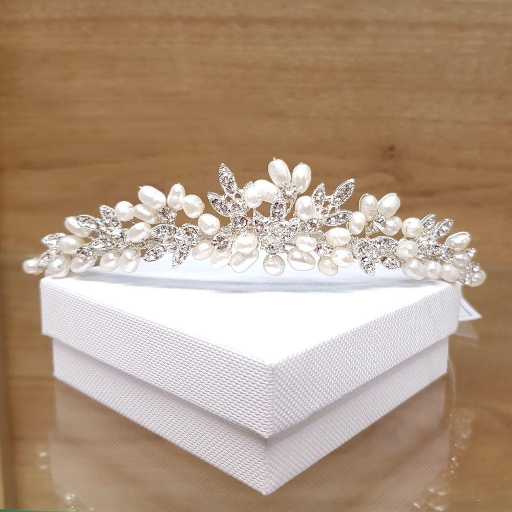 Pearl & Diamante  Paris Tiara, Tiaras