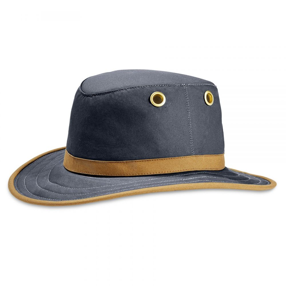Tilley - TWC7 Outback Waxed Cotton - Navy & Tan, Tilley Hats