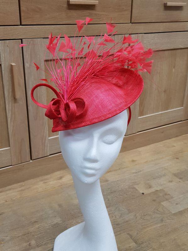 Red Disc / Wedding Hat, Ladies Hats