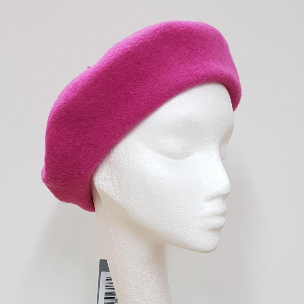 Wool Beret - Lipstick Pink, Ladies Hats