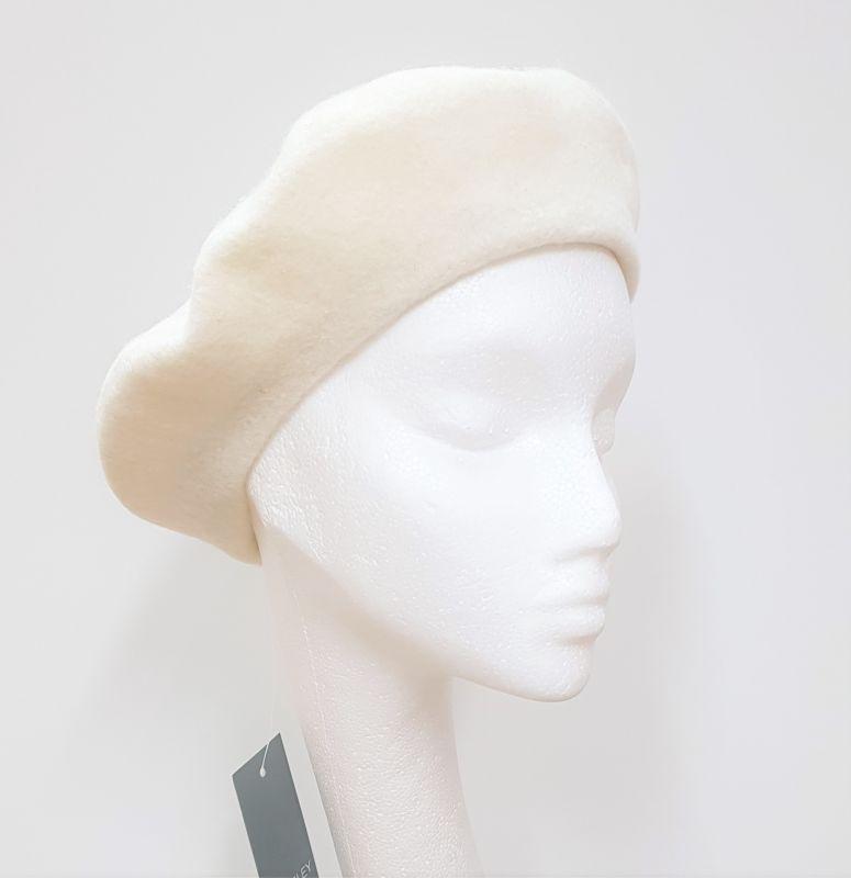 Wool Beret - Cream, Ladies Hats