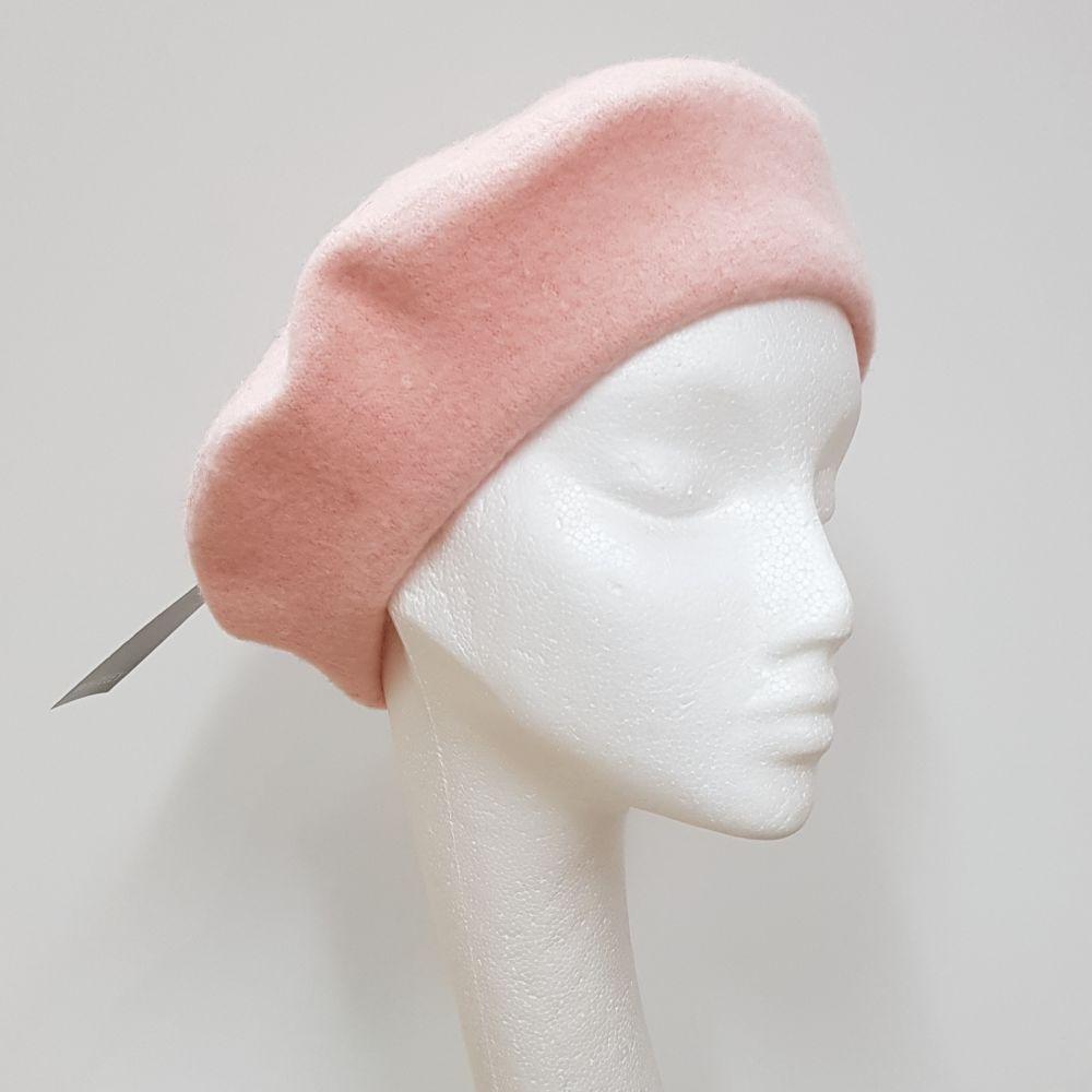 Wool Beret - Blush Pink, Ladies Hats