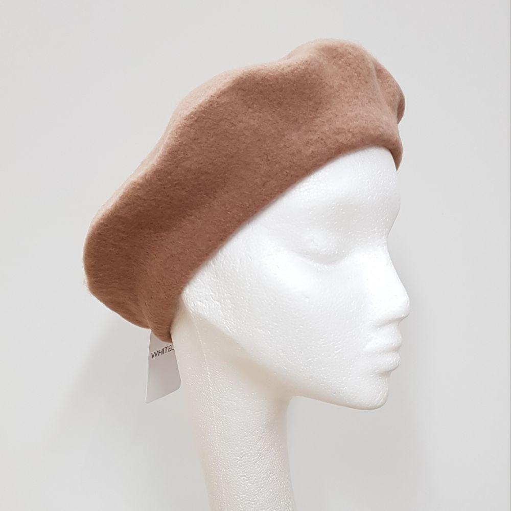 Wool Beret - Camel, Ladies Hats