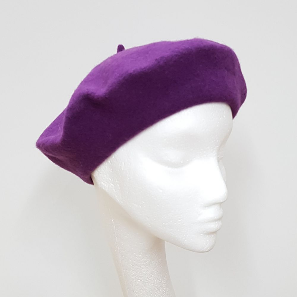 Wool Beret - Amethyst, Ladies Hats