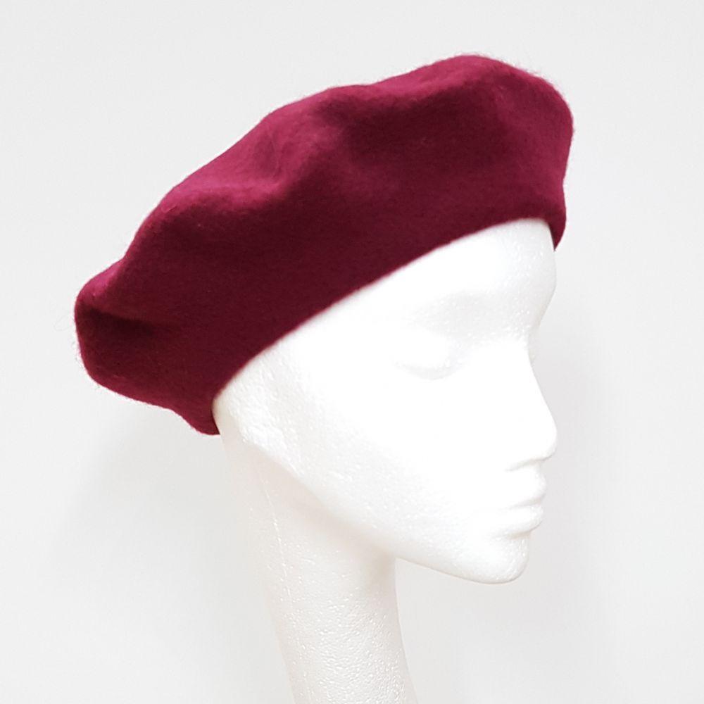 Wool Beret - Wine, Ladies Hats