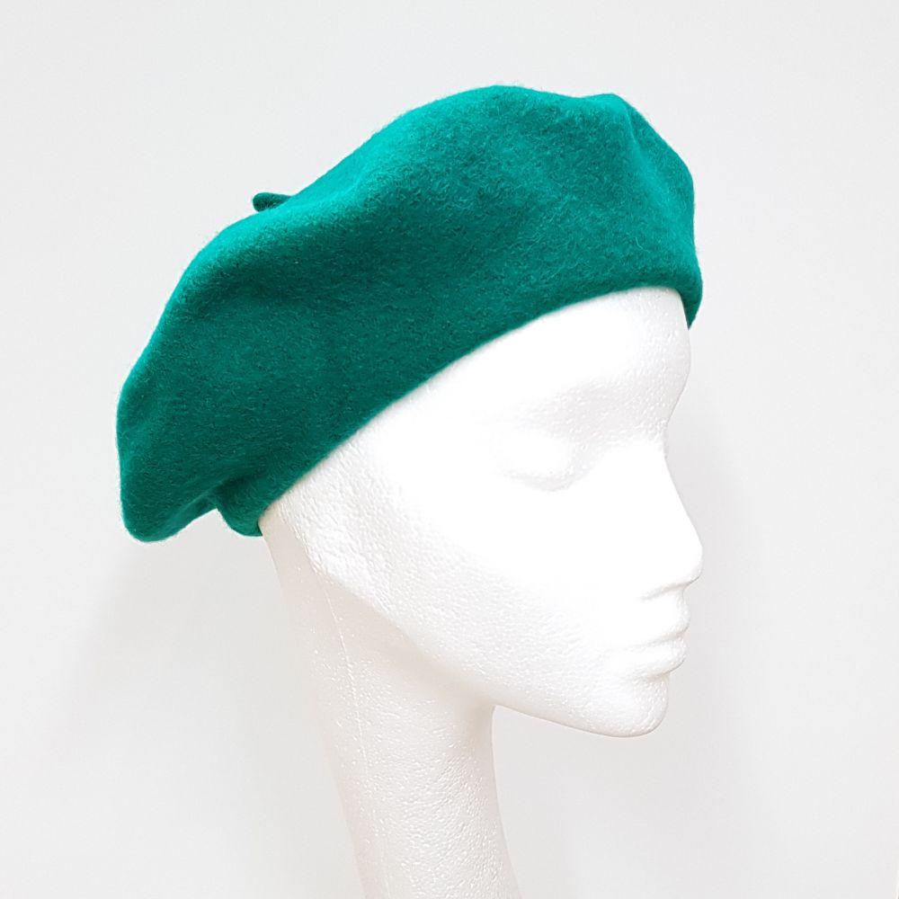 Wool Beret - Emerald, Ladies Hats
