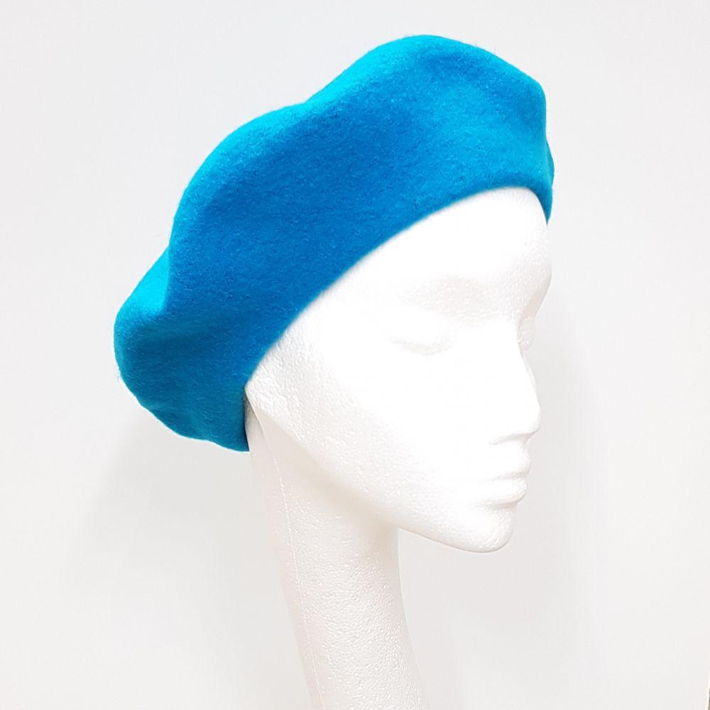 Wool Beret - Teal, Ladies Hats