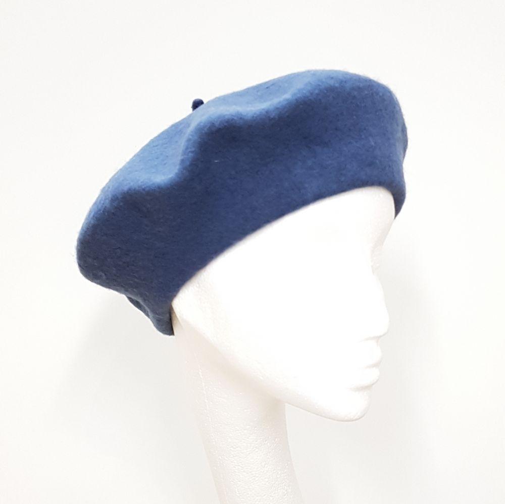 Wool Beret - Petrol Blue, Ladies Hats