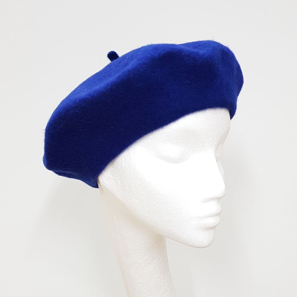 Wool Beret - Royal Blue, Ladies Hats