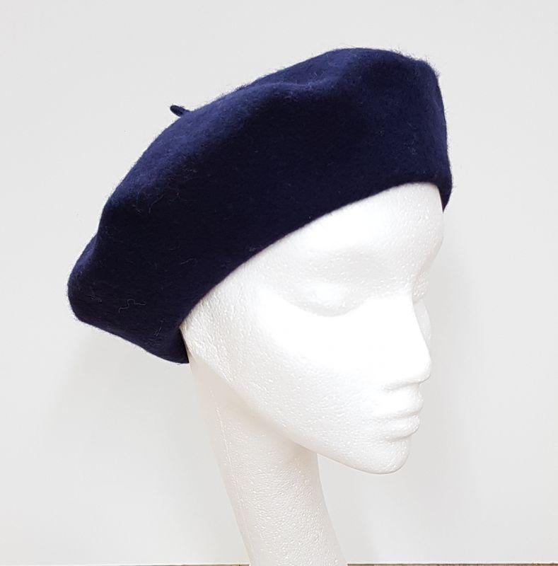 Wool Beret - Navy, Ladies Hats