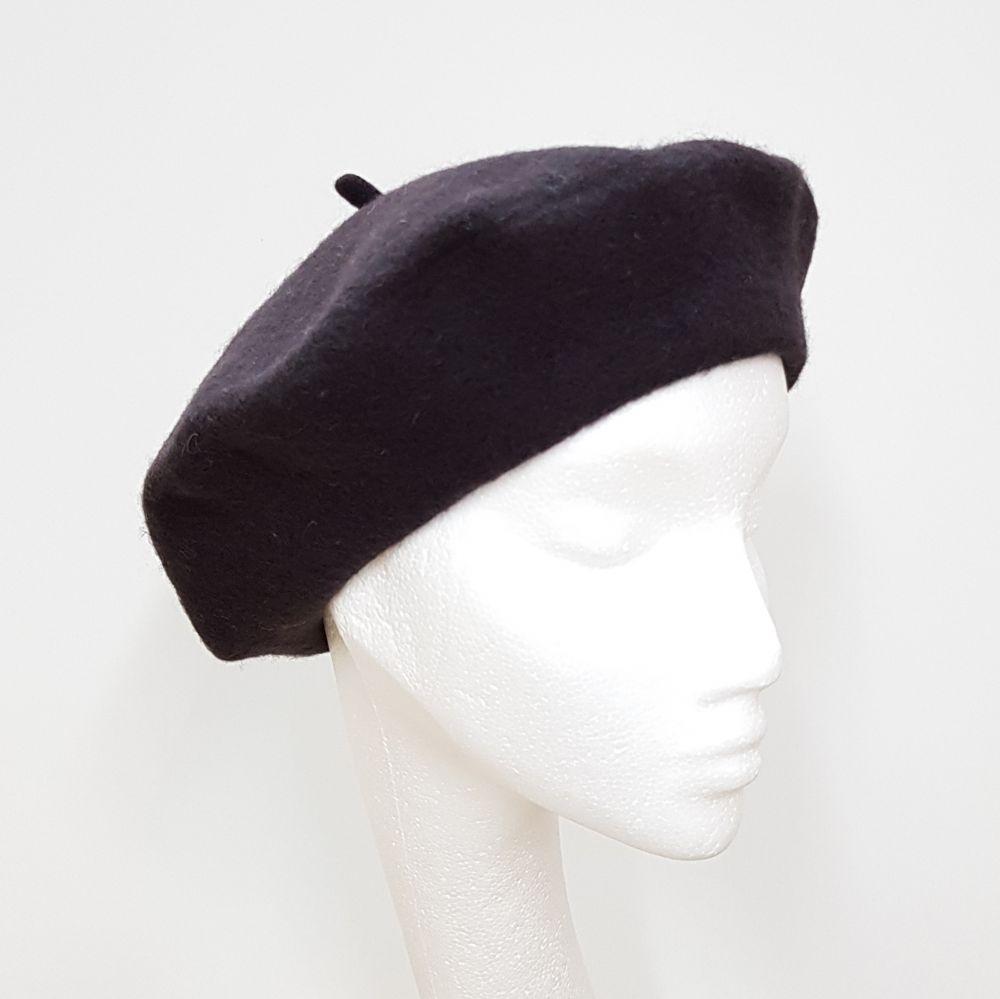Wool Beret - Mocha, Ladies Hats