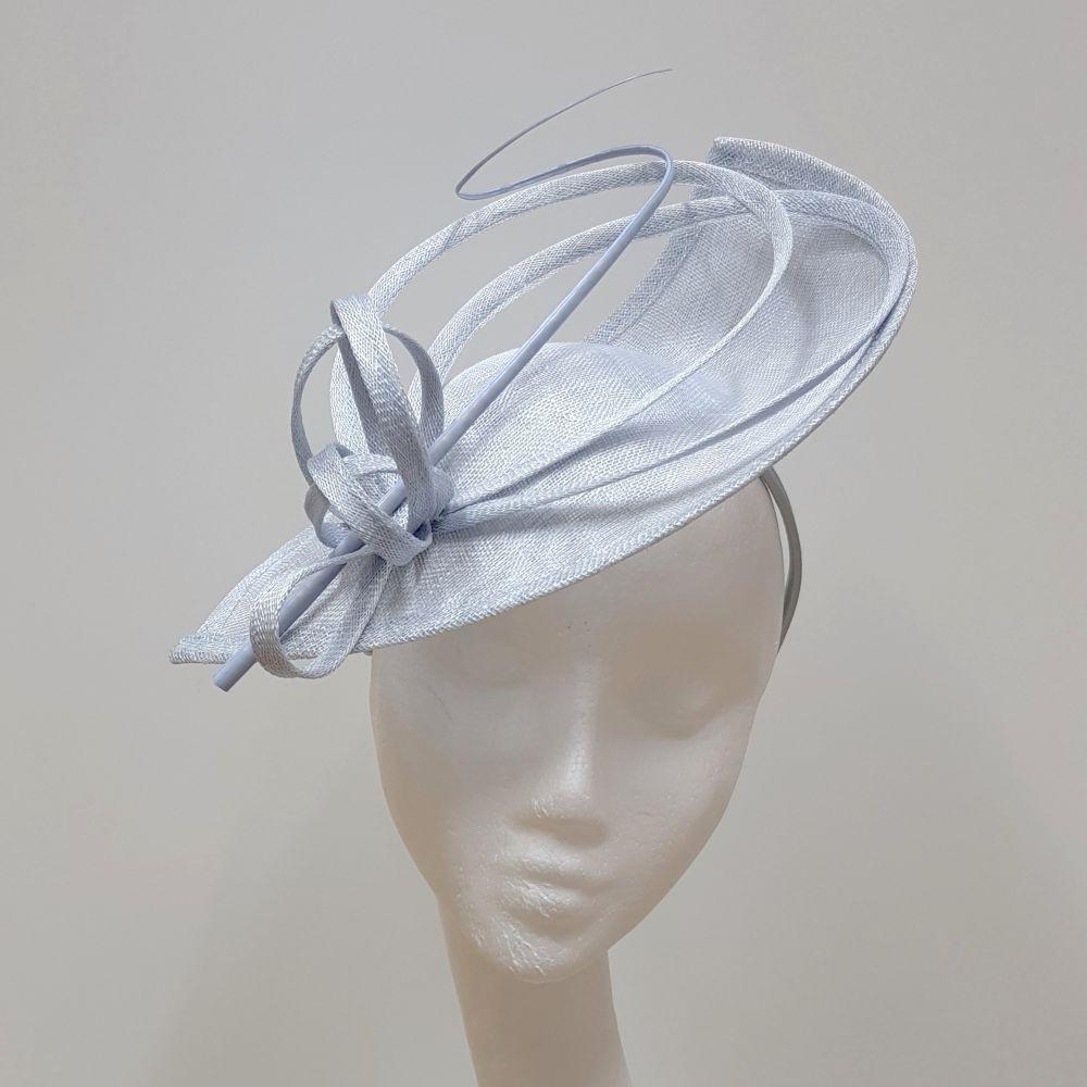 Pale Blue Disc / Wedding Hat, Ladies Hats