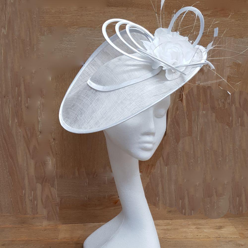 White Hatinator / Wedding Hat, Ladies Hats