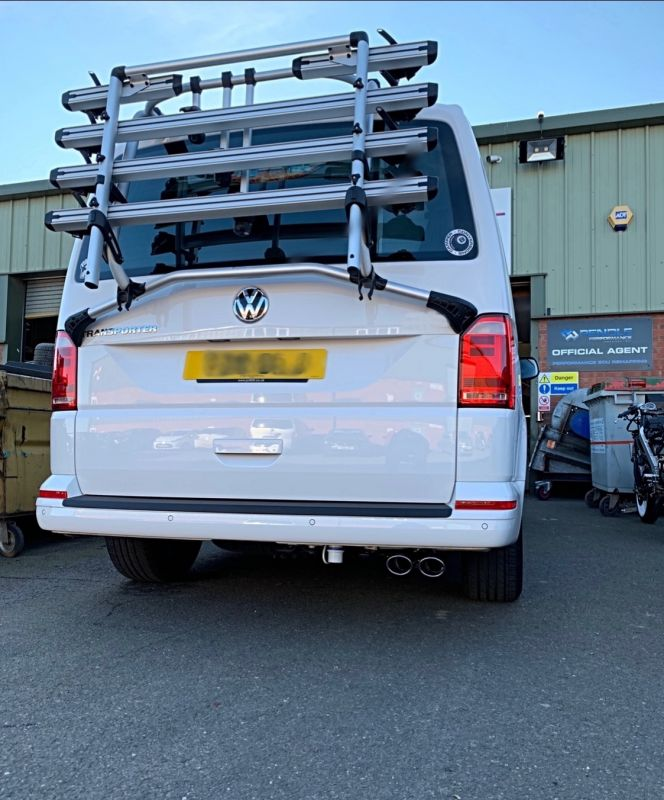 Vw T6 Tsi Stainless steel exhaust (non resonated) sports tone.