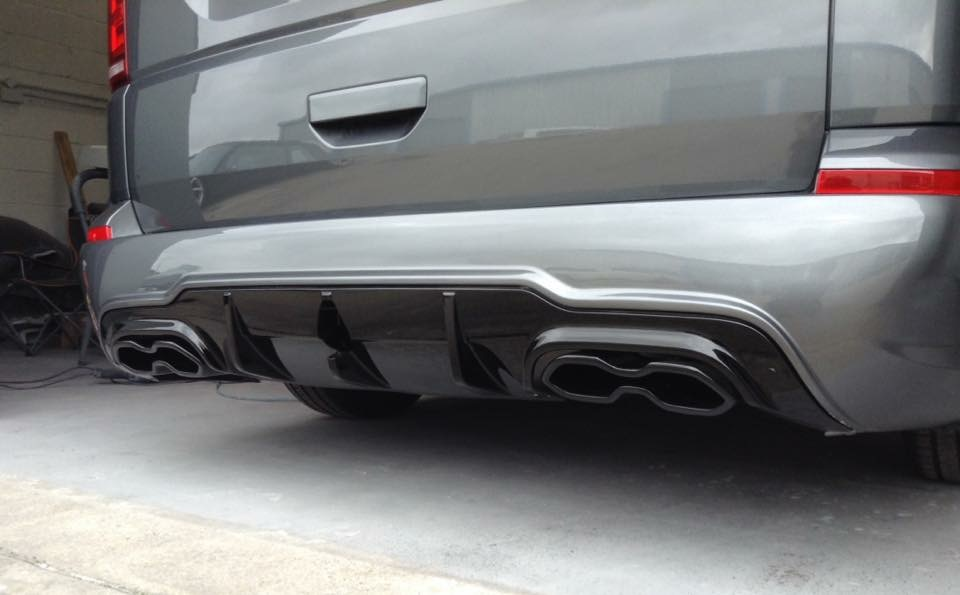 Vw T6 (2015-onwards) AMG Bumper exhaust combo