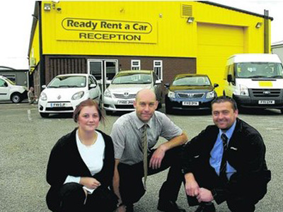 Rental firm parks up on side of A63