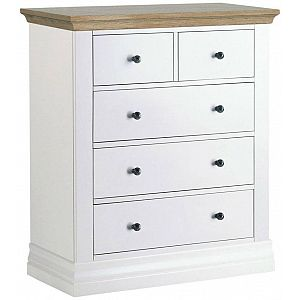 Annecy 2+3 Chest of Drawers Oak Top