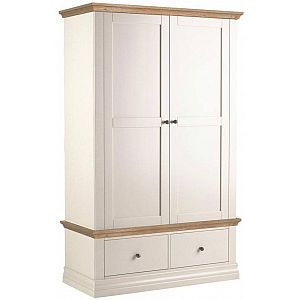 Annecy 2 Drawer Wardrobe - Oak Top