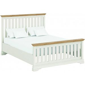 Annecy Imperial Painted 4'6 Double Bedstead Oak Tops LFE