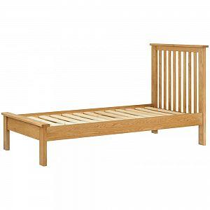 Portland Oak 3'0 Single Bed