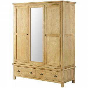 Portland Oak Triple Wardrobe