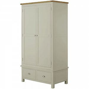 Portland Stone Double Wardrobe with 2 Drawers