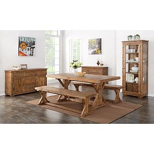Camrose Reclaimed Pine Dining